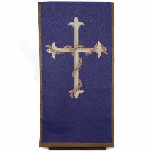 Coprileggio Croce oro sfondo viola s1