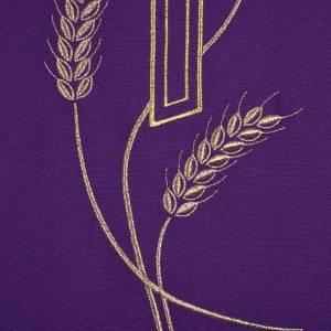 Coprileggio ricami oro spighe croce JHS s8