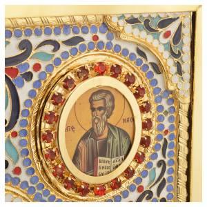 Coprilezionario ottone dorato con smalti Gesù Evangelisti s10