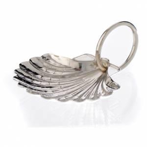 Coquille pour baptême en feuille de métal palladiée 6 cm s1