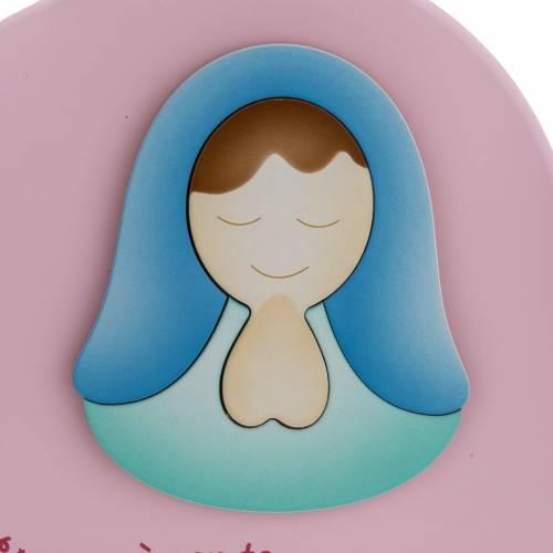 Corazón cántico Ave María rosado Azur Loppi s2