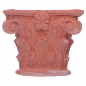 Home accessories miniatures: Corinthian semi capital in resin 5x5 cm