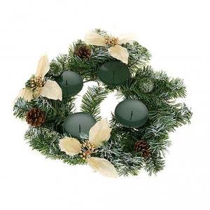 Corona avvento decorata addobbo natalizio s3