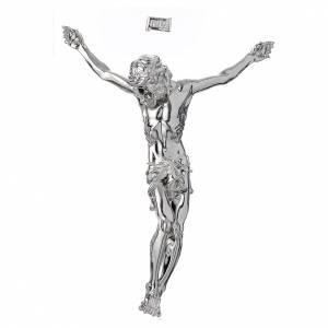 Statue in polvere di marmo di Carrara: Corpo di Cristo crocifisso in polvere di marmo fin. Argento
