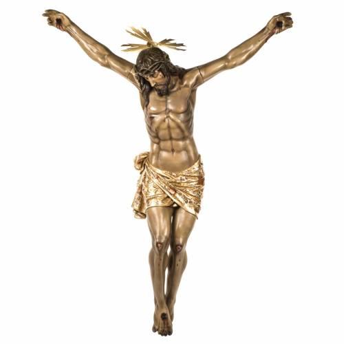 Corpo di Cristo morto 160cm pasta legno raggiera, finitura extra s1