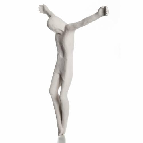 Corps de Christ stylisé argile blanche 66 cm s3