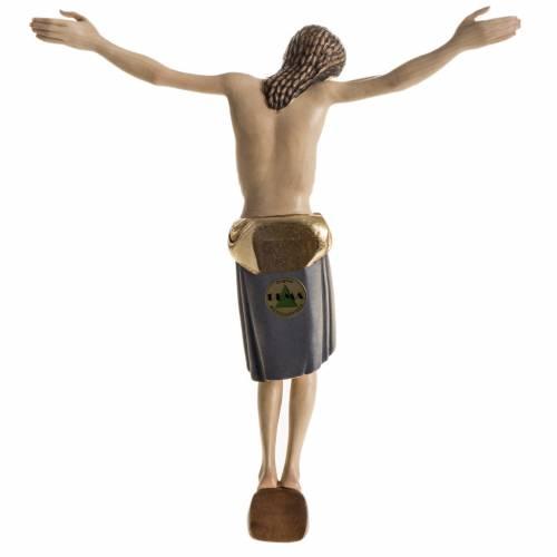 Corps du Christ St Damien bois peint Val Gardena s10