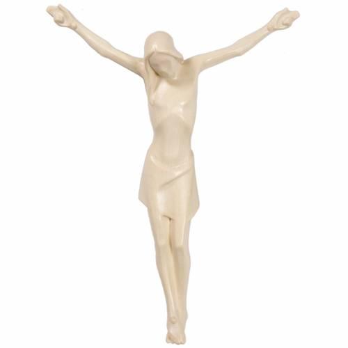 Corps du Christ stylisé bois naturel ciré Valgardena s1