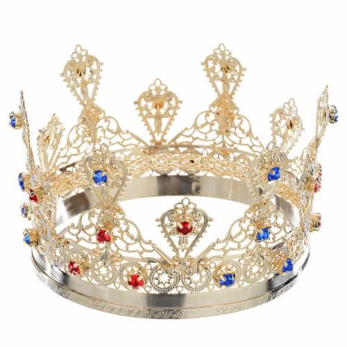 Couronne ducale dorée pour statue religieuse s1
