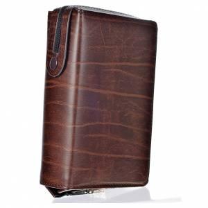 Couvertures liturgie des heures 4 vol.: Couverture 4 vol. cuir brun foncé