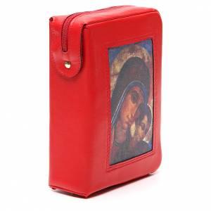 Couverture Bible Jérusalem rouge Vierge Kiko fermeture éclair s4