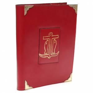 Couverture lectionnaire semaine et férié cuir rouge Ancre du Salut s2