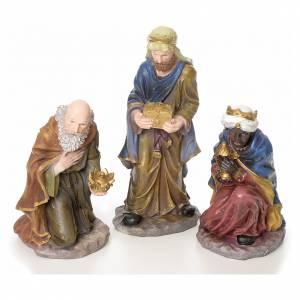 Crèche complète 10 santons résine 50cm modèle adoration s3