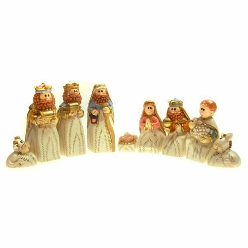 Crèche en résine 7cm 9 figurines s1