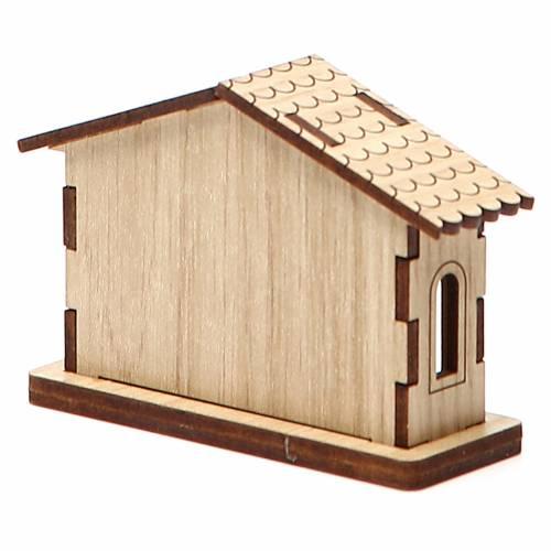 Crèche miniature nativité en bois s5