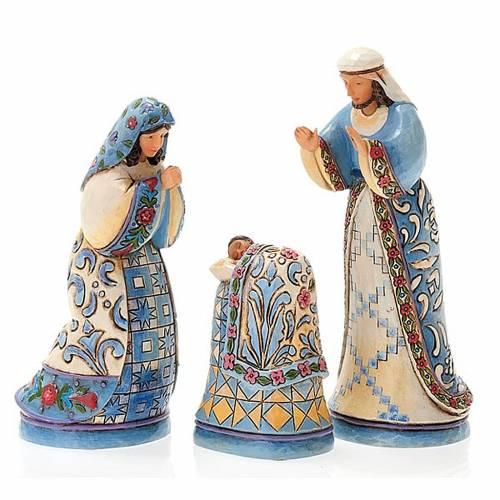 Crèche résine, 13.5 cm. Mini Blue Nativity s6