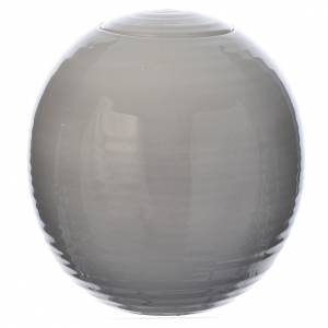 Funeral products: Cremation urn in porcelain, Murano model, Shades of white