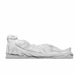 Cristo Muerto 140 cm. fibra de vidrio blanca s1
