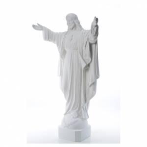Imágenes en polvo de mármol de Carrara: Cristo Redentor de mármol 100 cm
