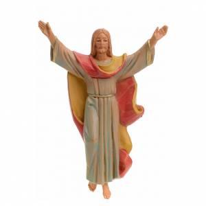 Cristo Risorto pvc Fontanini cm 12 tipo porcellana s1