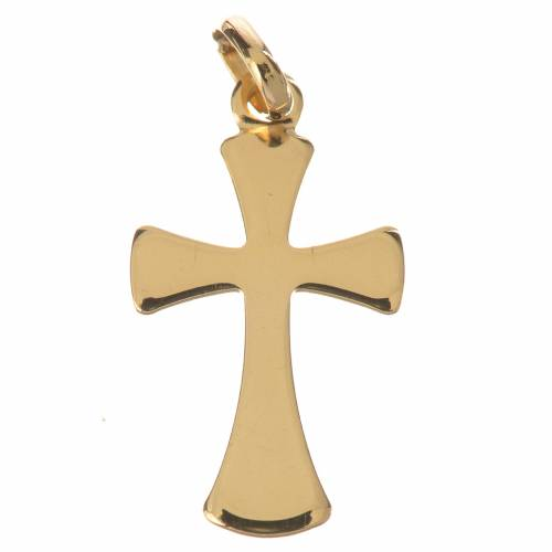 Croce ciondolo oro 750/00 - gr. 0,89 s1