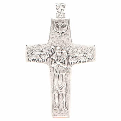 Croce pettorale Buon pastore metallo 10x7 cm s1