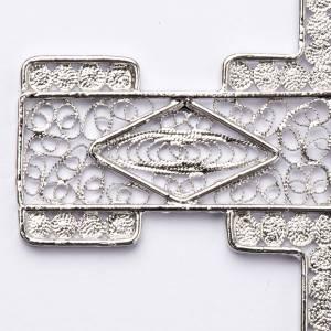 Articoli vescovili: Croce pettorale stilizzata argento 800 filigrana