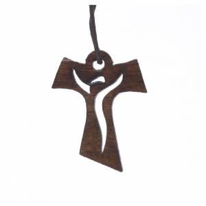Croce Prima Comunione legno scuro Risorto 3,4x2,4 cm s1