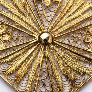 Articoli vescovili: Croce vescovile argento 800 filigrana dorata