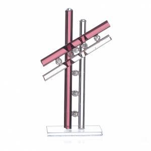 Bomboniere e ricordini: Croce Vetro Murano Viola h. 12 cm