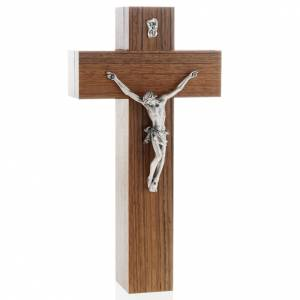Crocefisso altarino da tavolo legno di noce s1