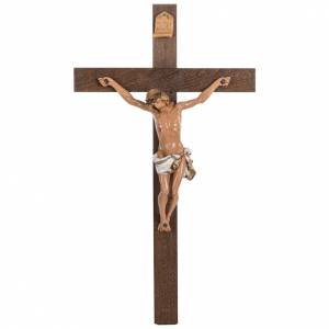 Crocifisso Fontanini croce legno 54x30 corpo pvc s1