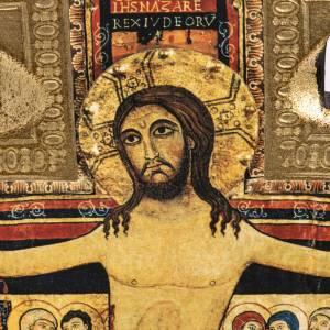 Crocifisso San Damiano legno bordo irregolare s2
