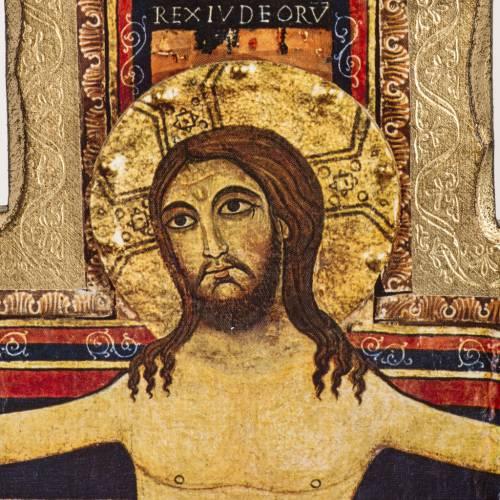 Crocifisso San Damiano stampa su legno s2