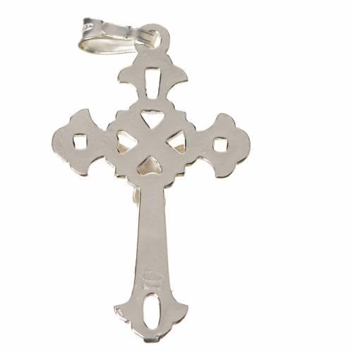 Croix argent percée 3x2cm s2