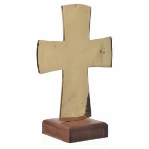 Croix d'autel Christ Grand Prêtre 28x19 cm Moines de Bethléem s3