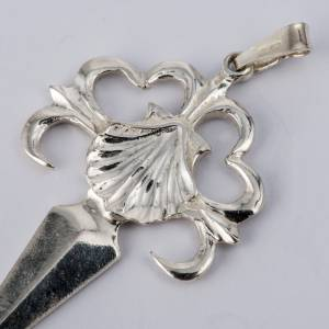 Croix de St Jacques de Compostelle argent 800 lucide s2