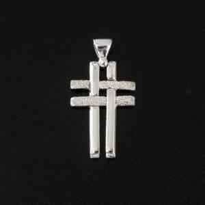 Croix double argent 925 s2