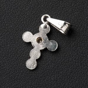 Croix en cercles d'argent et zircon s3