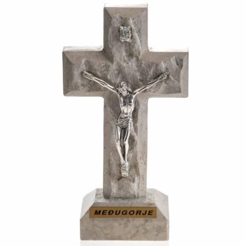 Croix Medjugorje marbre 19x10,5 s1