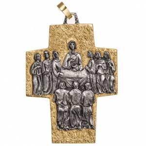Croix pectorale laiton Dernière Cène s1