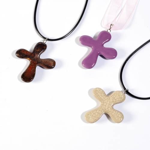 Croix pendentif, ronde s1