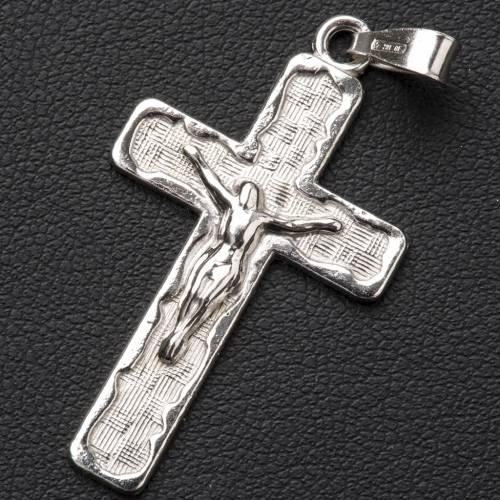 Croix tressée argent 800 s2