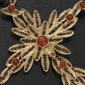 Cross pendant, 800 silver and coral s3