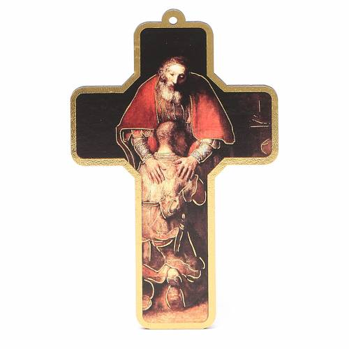 Cross pvc Penance with greeting card ITALIAN s1