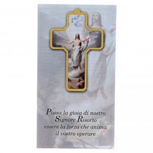 Cross pvc Resurrection 13x8,5cm s3