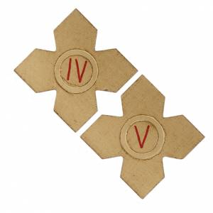 Way of the Cross: Crosses with numerals for Stations of the Cross 15 pcs