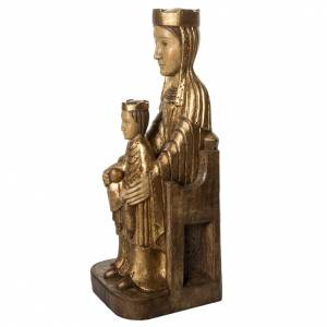 Crowned Virgin of Seez in gold finishing painted wood 66cm Bethl s3
