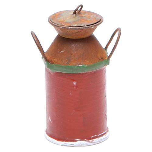 Cruche métal pour lait bricolage crèche s2