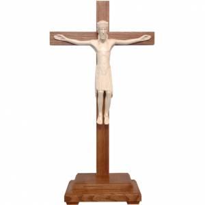 Crucifijo de mesa Altenstadt 52 cm. Valgardena natural encerado s1